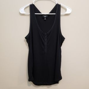 Black Mossimo Snap Front Tank Top - M